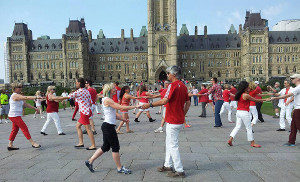 Ottawa's 2015 contribution to the international WCS flash mob.