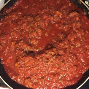 Bolognese sauce. MMmmmm!