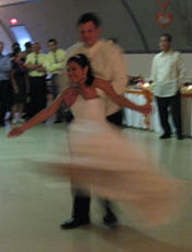 From Vince & Lisa's West Coast Swing wedding dance, taught & choreographed by Smoothstyle.