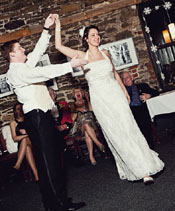 From Paul & Sarah's wedding dance, taught and choreographed by Smoothstyle. Photo by Stephanie Cantin Photography.
