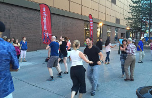 One of our 2015 WCS pop-up dances in the Byward Market.
